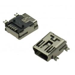 "USB GNIAZDO TYP MINI ""B"" 5-PIN SMD"