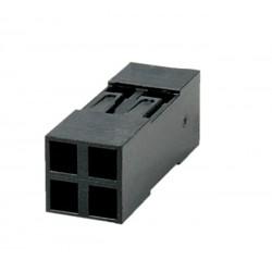 GNIAZDO BLD-04 2x2 PROSTE 2,54mm OBUDOWA CZARNA do PINY BL-T