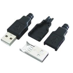 WTYK USB TYP A NA KABEL + OSŁONA
