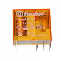 PRZEKAŹNIK FINDER F 4 52.8.24 2x 8A 24V AC 2P / RM94