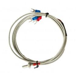 SONDA PT100 M6 0-450oC 3M 3-P PRZEWÓD W METALOWYM PANCERZU Rezystancyjna sonda temperatury z przewodem