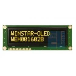 WYŚWIETLACZ LCD OLED 2x16 WEH1602 BLPP5 NEGATYW ŻÓŁTY BIG !! 16x2 + SPI